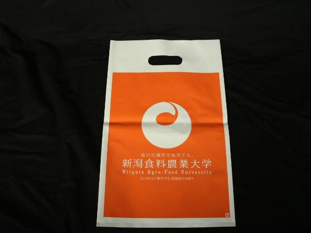 新潟の大学運営法人様のオリジナルポリ袋