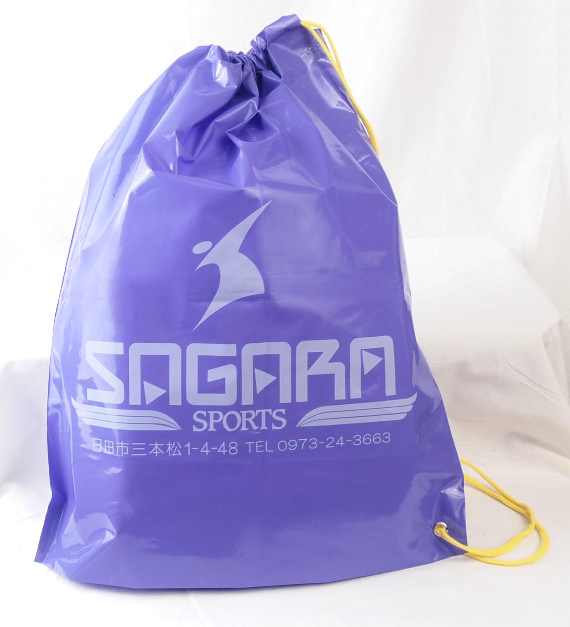 スポーツ用品のショップのビニールショルダーバッグ