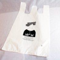 お洒落な雑貨店のレジ袋用にロゴを印刷したポリ袋
