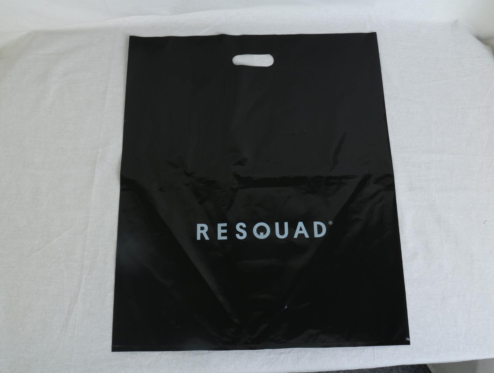 衣服をお入れするショッパーとして使用されるオリジナルポリ袋