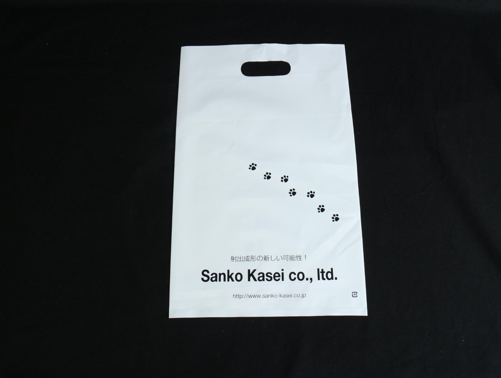 工業用精密プラスチック部品の設計などをされています会社様のオリジナルポリ袋です