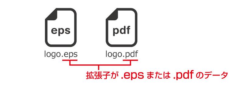拡張子が.epsまたは.pdfのデータ